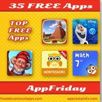 35 FREE apps for today's AppFriday … with17 apps for education with some great apps for math, literacy and Early learning; 10 cool book app...