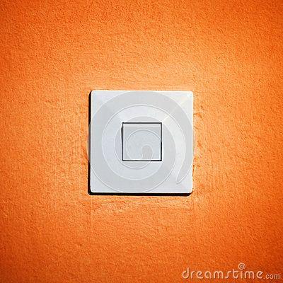 Vintage Light Switch On Orange Wall By Igor Stevanovic