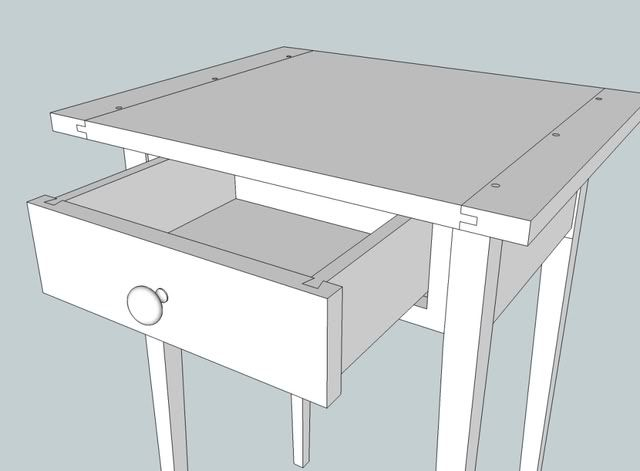 17 best images about timber shaker table on pinterest for Table design sketchup