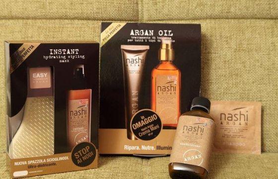 Nashi Argan offre una linea professionale di prodotti per capelli a base di olio di argan adatti per tutti i tipi di capelli.