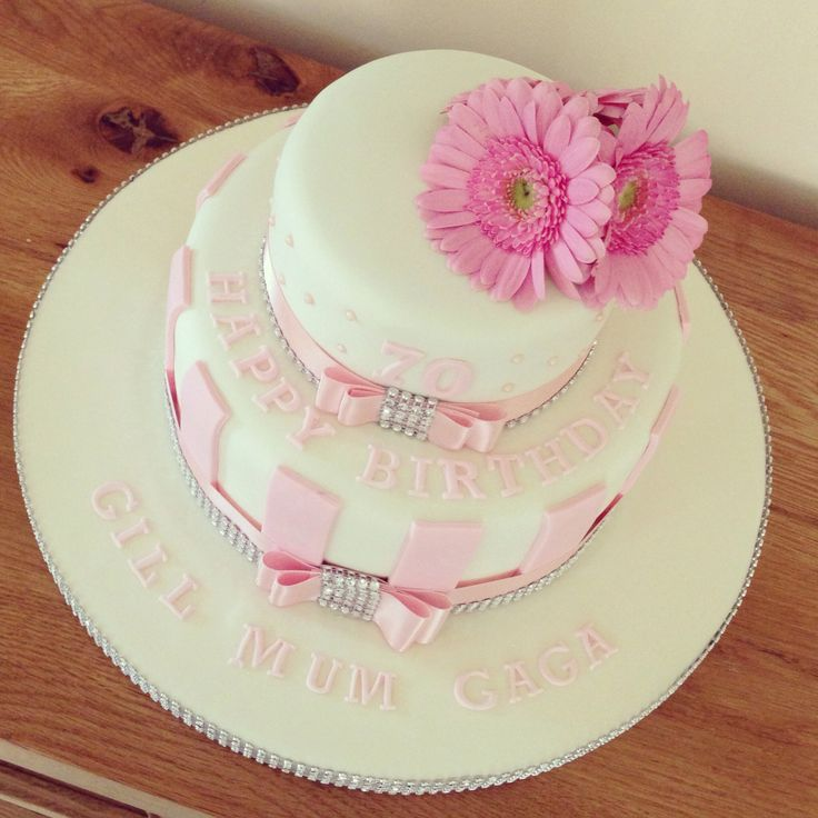 Ladies 70th Pink Sparkle Cake | Adult Novelty Cakes | Pinterest
