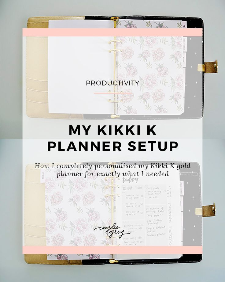 My Kikki K planner setup - How I completely personalised my Kikki K gold planner for exactly what I needed