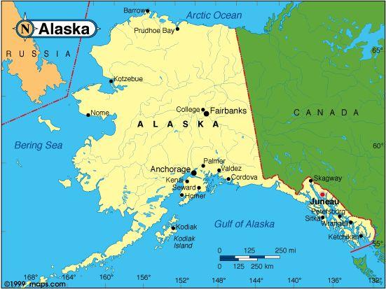 nice map of alaska travelquaz pinterest alaska nice map and