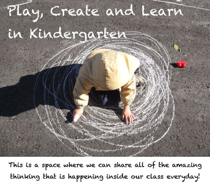 Play, Create and Learn in Kindergarten