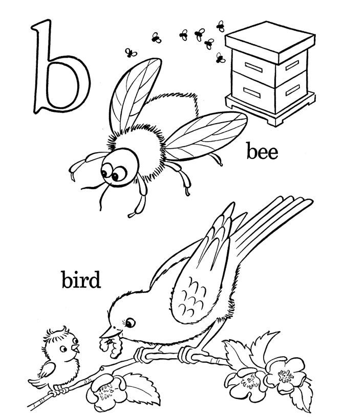 Love these classic style alphabet coloring pages!  Farm Alphabet ABC Coloring page - Letter b
