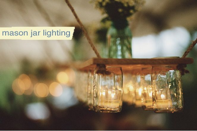 Mason Jar Lighting - Genius!