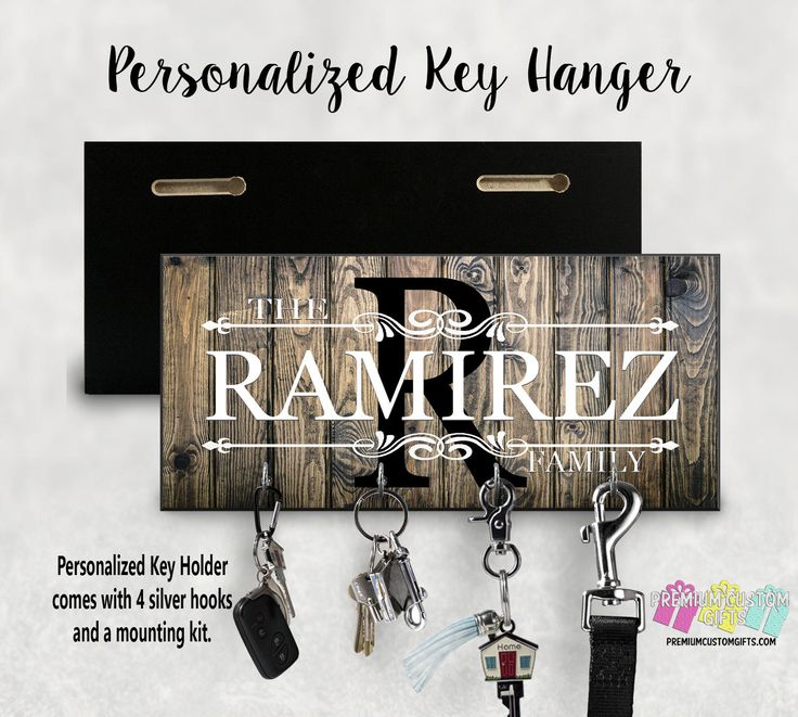 Excited to share the latest addition to my #etsy shop: Custom Wood Key Holder For Wall - Personalized Key Hanger - Made Of MDF Wall Key Hanger - Housewarming Gift - Anniversary Gift For Her http://etsy.me/2nryE7T #housewares #homedecor #personalizedgift #personalizedha