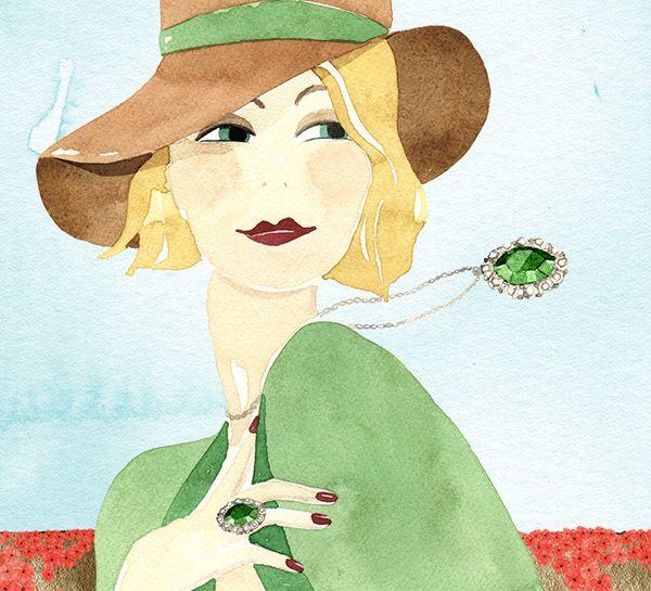 Gioielli da viaggio by Coassin Gioielli - Giorgia Bressan Illustration #jewelry #fashion #illustration #giorgiabressan