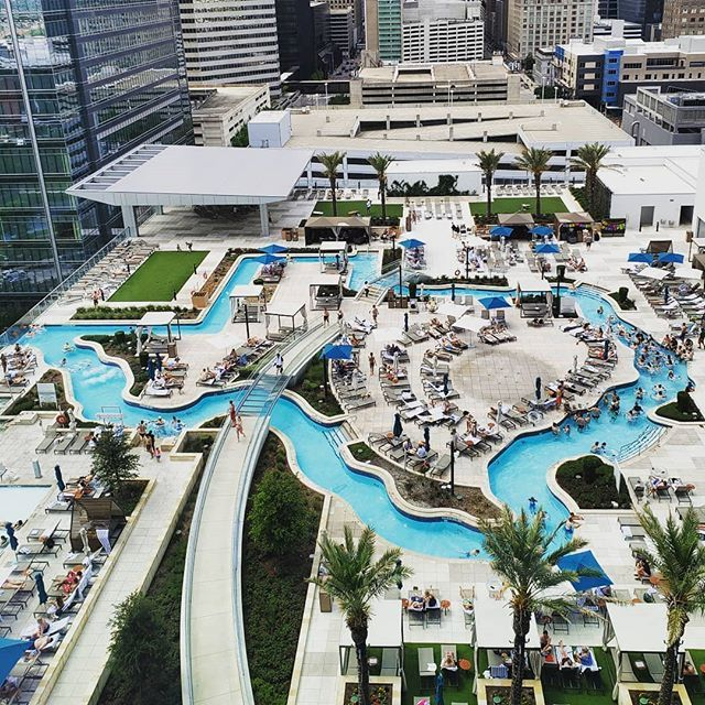 This Past Weekend 10 Girls Descended Upon The Marriott Marquis Houston For A Cinco De Mayo T Lazy River Pool Texas Bachelorette Party Bachelorette Party Themes