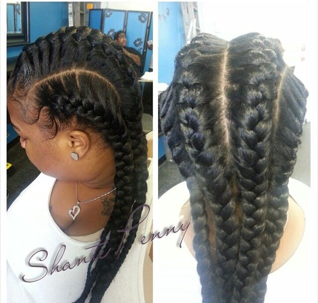 Underbraids with Natural Hair
