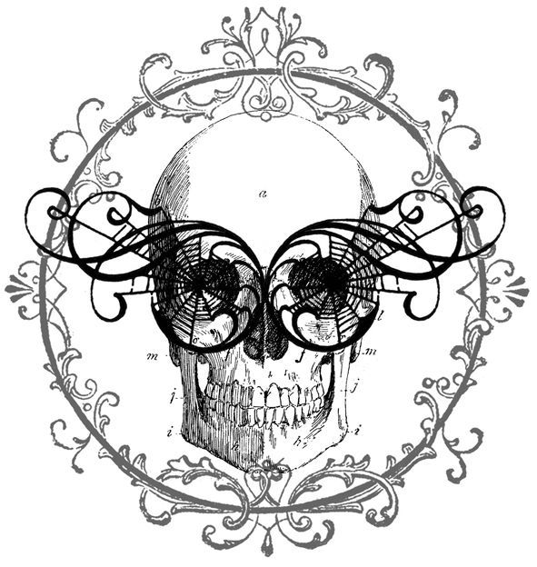Skelly with glasses