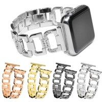 Wish |  Diamonds Stainless Steel Bracelet Watch Band Strap For Iphone Watch Series 1/2/3 38MM/42MM