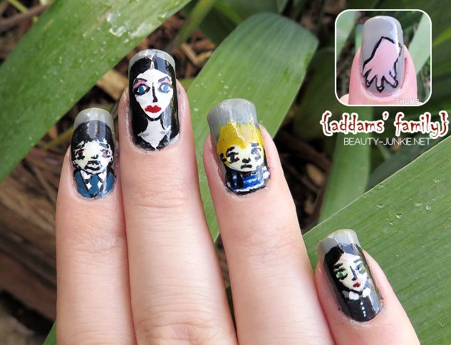 Manicure Monday The Addam S Family Addams Familynail