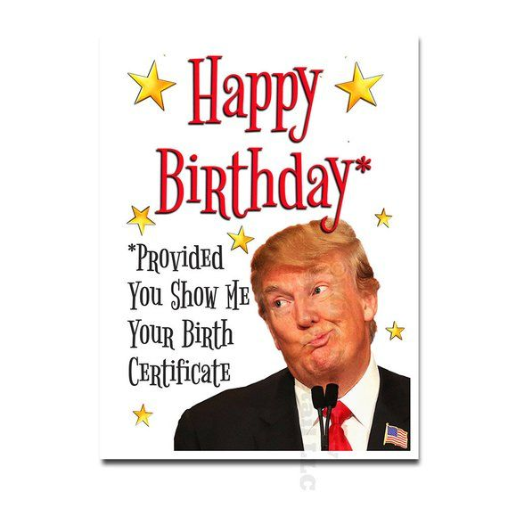 DONALD TRUMP Funny MEXICO Birthday Greeting Card Office Party GIFT MAGA not aceo
