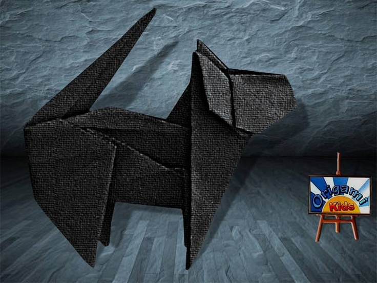 Origami Cat by Fuchimoto Munej Designer: Fuchimoto Munej Folder and Photo: @Origami Kids Complexity: Intermediate. Time to fold 30 min. 21 steps. Folded from a one classic Single Uncut square origami black, about 40 cm x 40 cm. Diagrams in Origami Pet Park by Fuchimoto Munej pages 40-41 How to fold: http://origami-blog.origami-kids.com/eng/origami-cat-by-fuchimoto-munej.htm