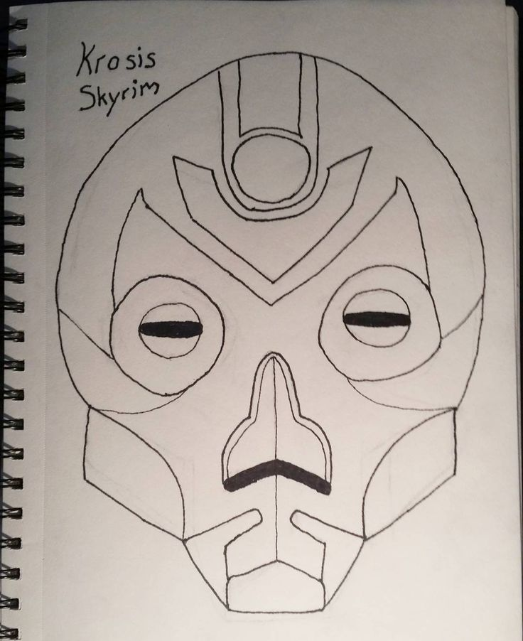 #inktober #inktober2017 Day 31 #Mask : Went with something easy today body is fighting me. Krosis mask from skyrim. Will be trying to post drawings every day most probably won't be inked. Some might be digital. Going to try scanning in the drawings to color them on my pc. #Complete #learning #drawing #art #handdrawn