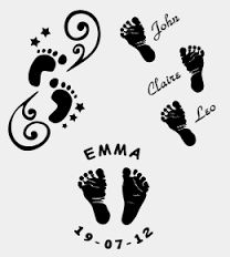 Image result for tattoos of baby footprints and handprints