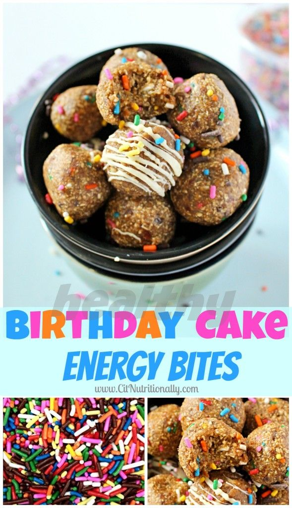 Healthy Birthday Cake Energy Bites are perfect for when there's no time to bake a cake, but time to savor the flavors in your favorite childhood treat!