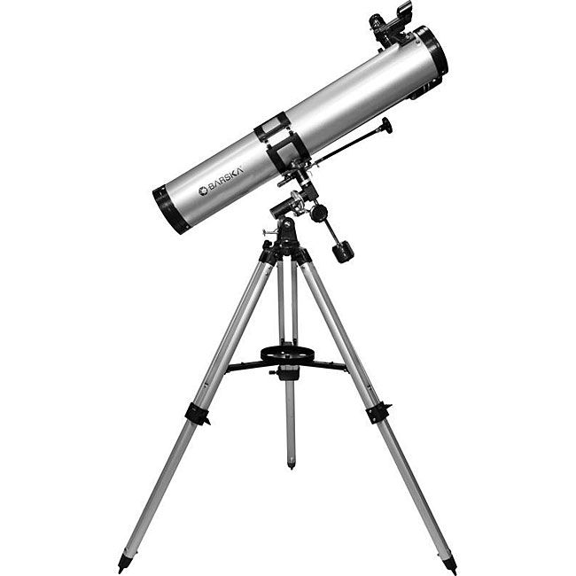 Barska Starwatcher telescope is ideal for the aspiring amateur astronomer Optic equipment is easy to set up and includes everything necessary to start star-watching Telescope set includes finders scop