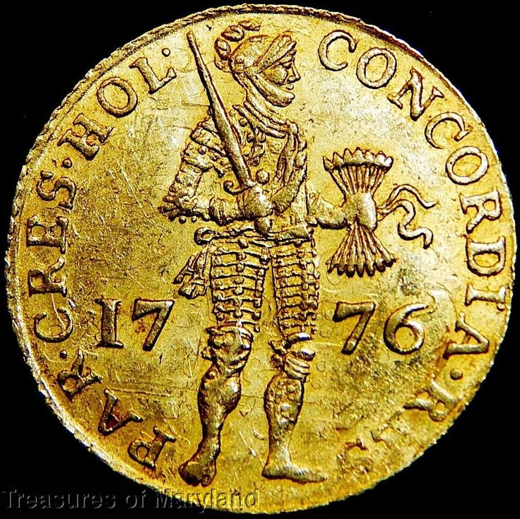 "1776 HOLLAND ""STANDING KNIGHT"" DUTCH GOLD DUCAT! sku #DG3"