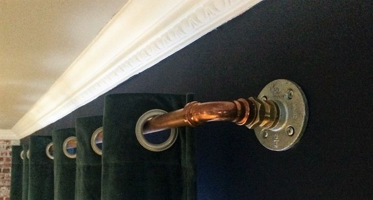 Steampunk Industrial Style Urban Copper Pipe Curtain Pole Rail 100 - 200cm by UrbanFoxInteriors on Etsy https://www.etsy.com/uk/listing/491884031/steampunk-industrial-style-urban-copper