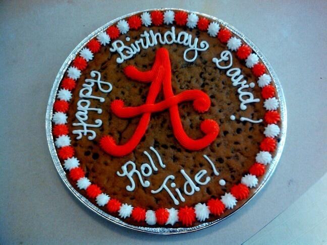 Alabama Birthday Cookie Cake :)