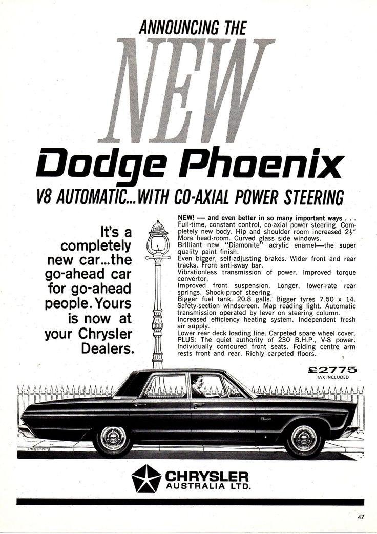 1965 ap2d dodge phoenix chrysler aussie original magazine