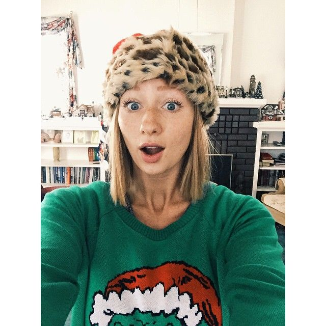 It's all about that leopard print though. MERRY CHRISTMAS! #classy #santahat #leopardprintalways #grinch