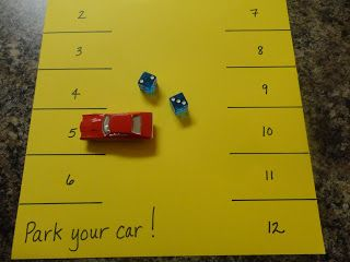 Spark and All - Park Your Car! Addition Game-- you have to scroll down through all the hatching chickens stuff!
