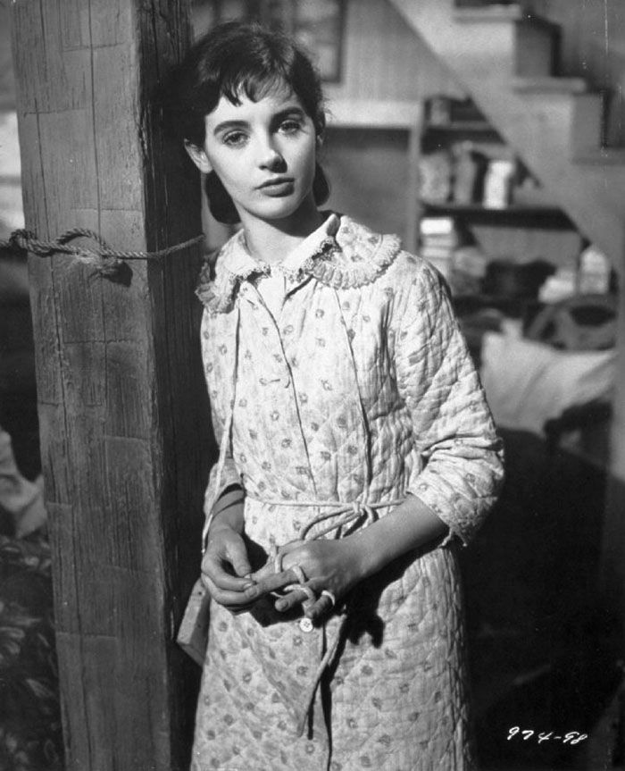 "Millie Perkins en ""El Diario de Ana Frank"" (The Diary of Anne Frank), 1959"