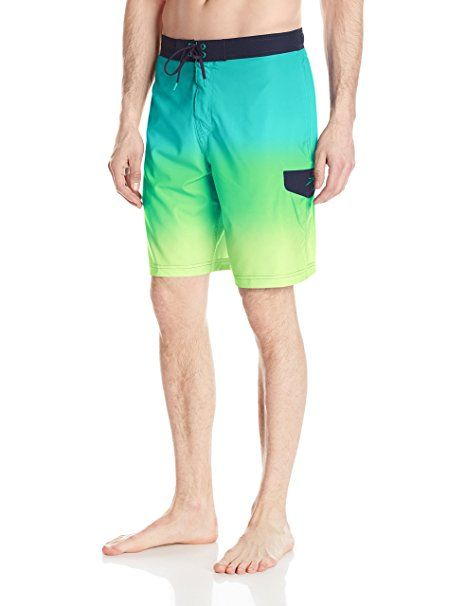 9496a809c0 Speedo Men's Engineered Ombre E-Board Shorts Workout & Swim Trunks, Columbia,  Small