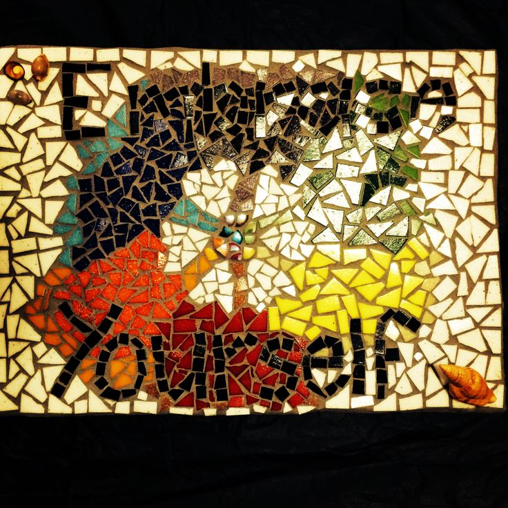 Mosaic sign I made with love for my best friend..