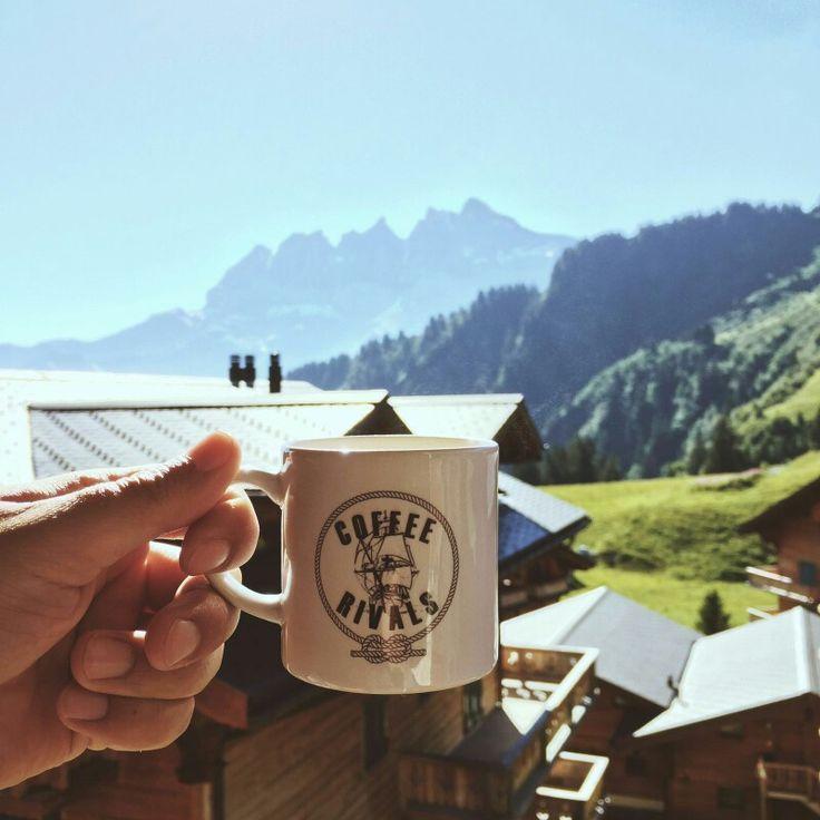 #coffee with a #view on #sunday! #goodmorning #goedemorgen #bergen #uitzicht #genieten #coffeerivals #weekend