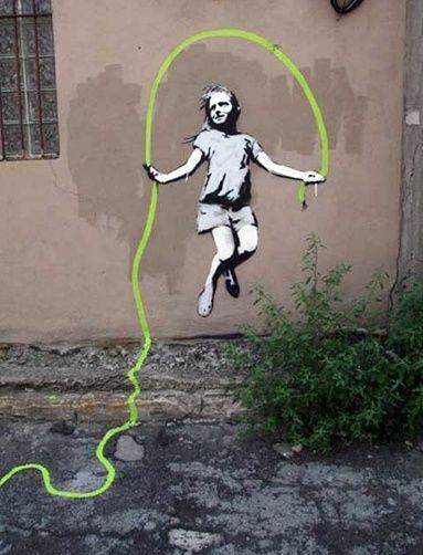 #Banksy #street art #graffiti #art #illusion #illustration