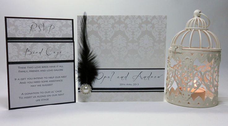 Feather & Bling invitation