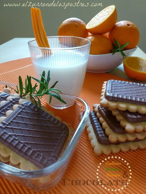 Galletas de Romero y Naranja con Chocolate