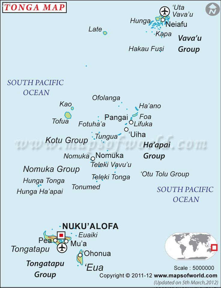 Best KIngdom Of Tonga Tonga Islands Images On Pinterest - Tonga map