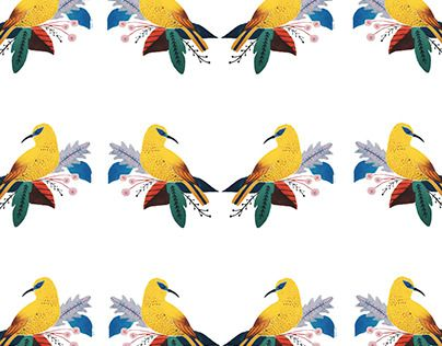 "Check out new work on my @Behance portfolio: ""Yellow bird pattern"" http://be.net/gallery/41451111/Yellow-bird-pattern"