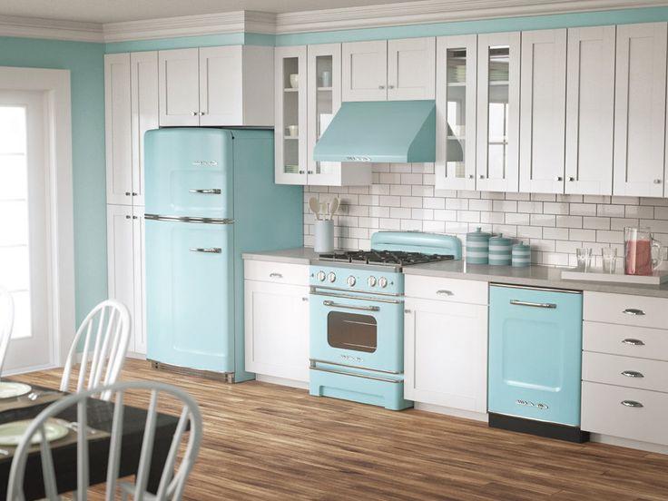 1950s Pastel Colors Kitchen Interior ideas