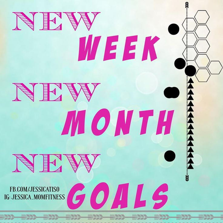 New week New Month New Goals!! what happened