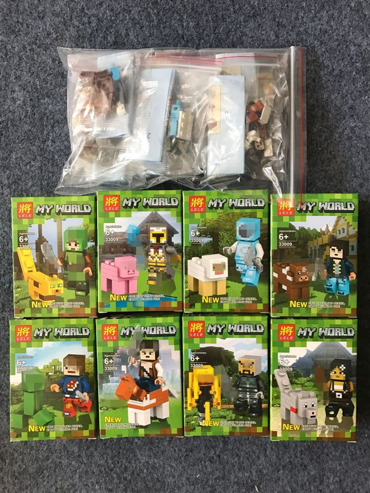 8set/lot Minecraft Style Building Block Zombie Lego Compatible //Price: $19.00 & FREE Shipping //     #minecraft