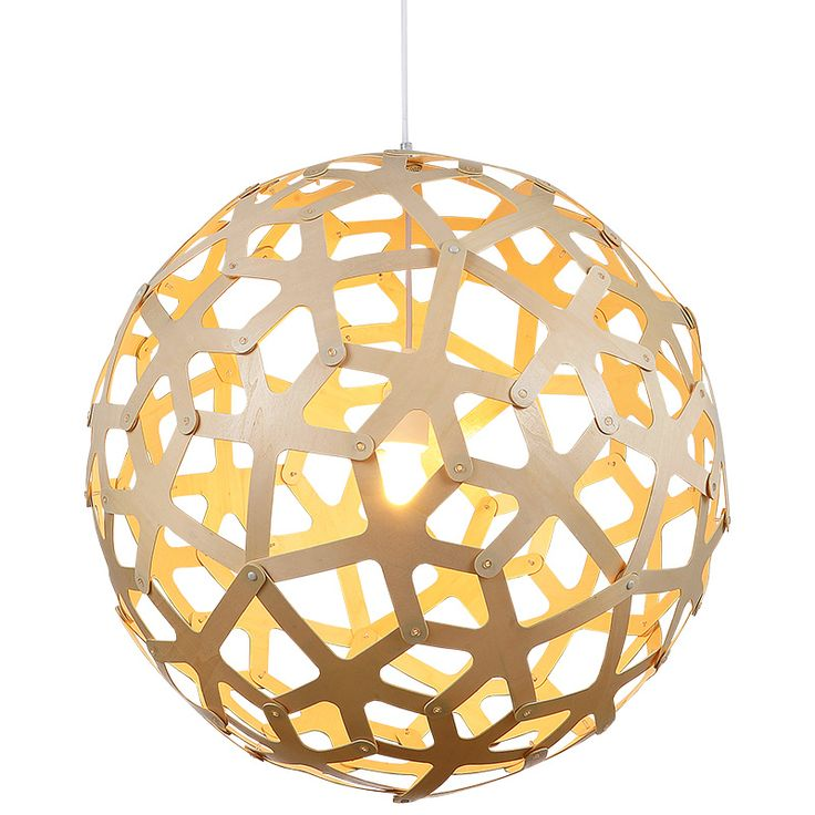 Replica David Trubridge Coral Pendant Paint Yellow | Globe Down Facing Geometric natural Wood Pendant with a Yellow Finish on the inside. Buy now: http://lighting.co.za/ceiling/replica-david-trubridge-coral-pendant-paint-yellow/