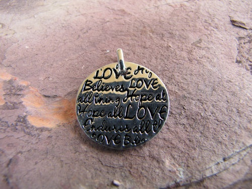 Sterling Silver Message Pendant only $27.00 and there is a matching ring!  Only from Sweet Sweet Silver.