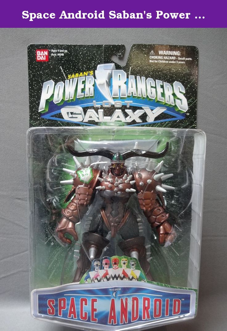 Space Android Saban's Power Rangers Lost Galaxy. Rare Space Android Action from Power Rangers Lost Galaxy. Vintage Action Figure made in 1998.