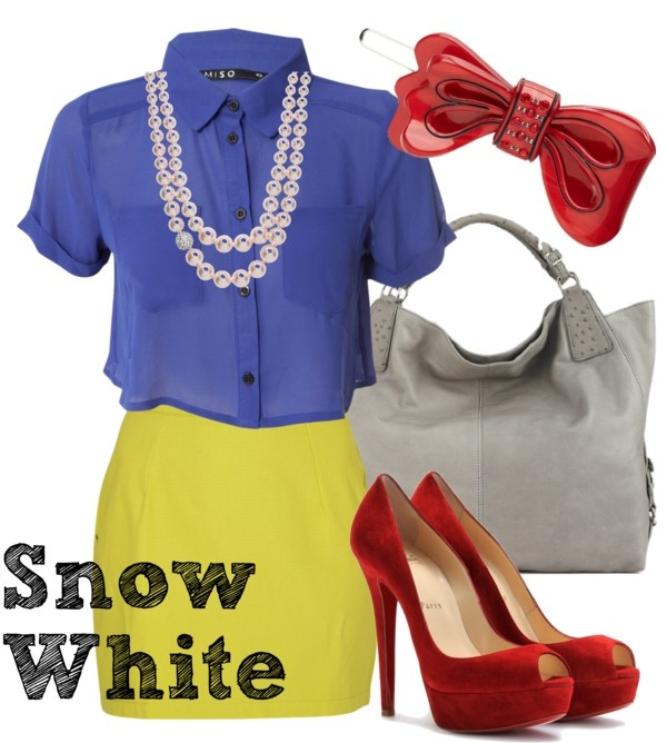 Modern Snow White - if your office does not allow Halloween costumes you can do it in a subtle way