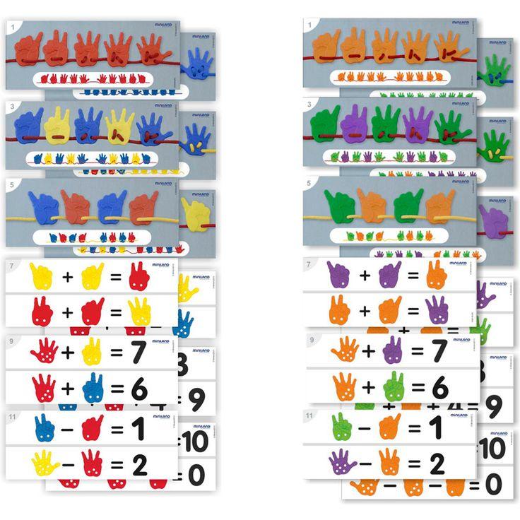 Regala a los niños juegos educativos, además de compartir tiempo con ellos y divertirse, estarán aprendiendo y desarrollando muchas habilidades. Activity Hands, es un completo juego de ensartar y clasificar, también ayuda a comprender el concepto de lateralidad, ya que incluye manos izquierdas y derechas; estimula el aprendizaje del número tanto en el concepto de grafía como en el de cantidad. Diviértete y aprende con los juguetes educativos de Miniland Educational. Recomendado de 3 - 6…