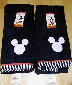 New Black White Red Mickey Mouse Bathroom Hand Towels