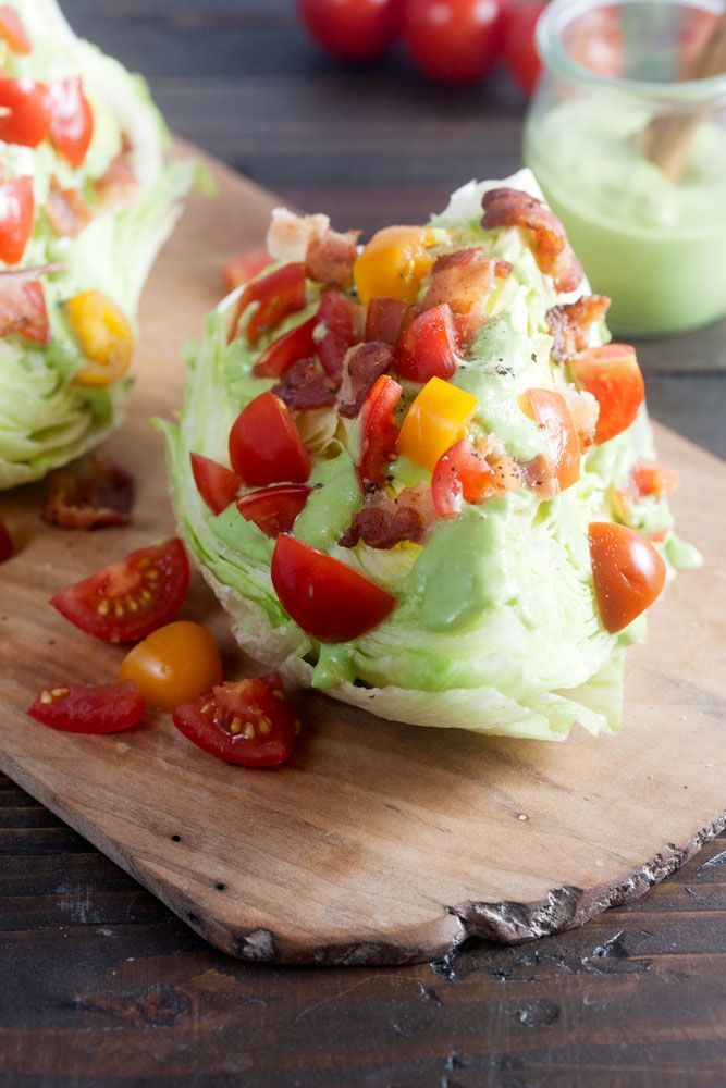 Avocado BLT Wedge Salad | Recipe | Wedge Salad, Easy Side Dishes and ...