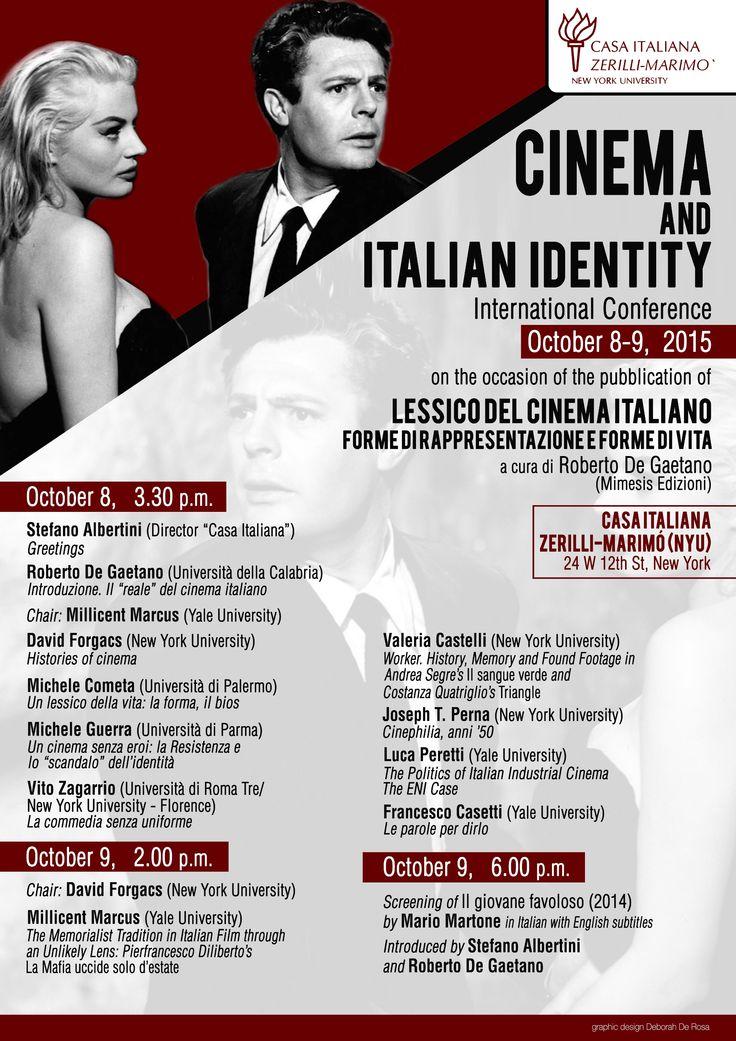 Cinema_and_Italian_Identity - Si parla di cinema italiano a New York partendo dal Lessico del cinema italiano di Roberto De Gaetano.