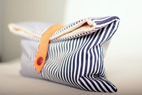Marine handmade clutch bag by Notmeart on Etsy